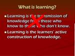 what is learning1