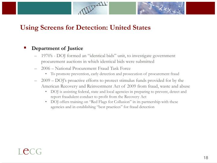 Using Screens for Detection: United States