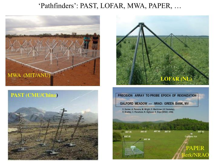 'Pathfinders': PAST, LOFAR, MWA, PAPER, …