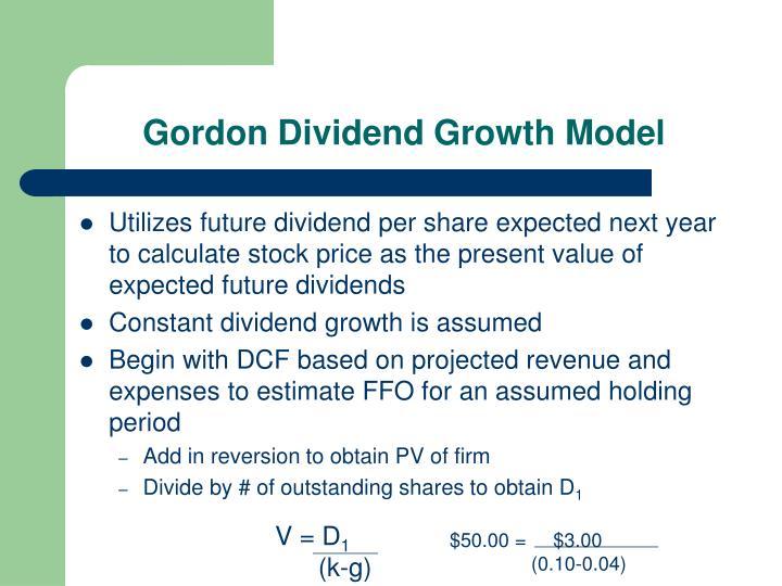 Gordon Dividend Growth Model