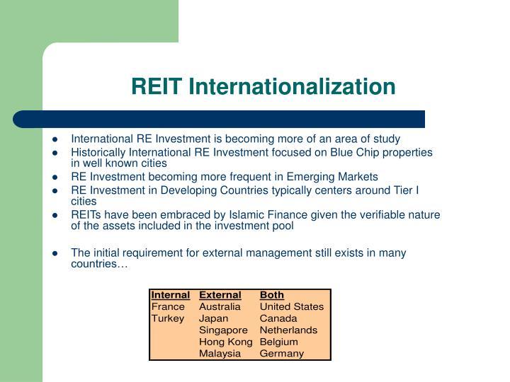 REIT Internationalization