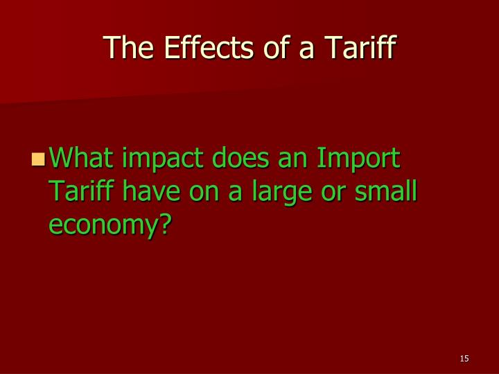 The Effects of a Tariff