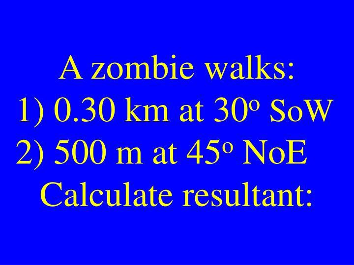 A zombie walks: