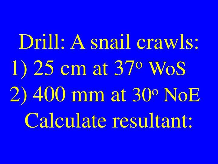 Drill: A snail crawls: