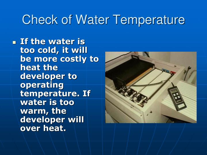 Check of Water Temperature