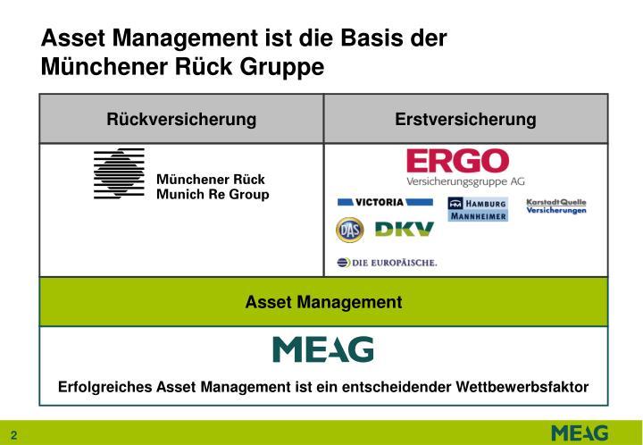 Asset management ist die basis der m nchener r ck gruppe