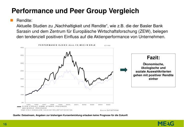 Performance und Peer Group Vergleich