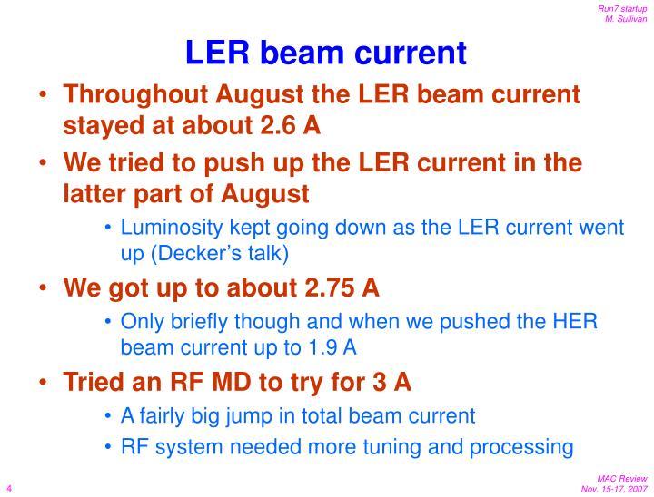 LER beam current