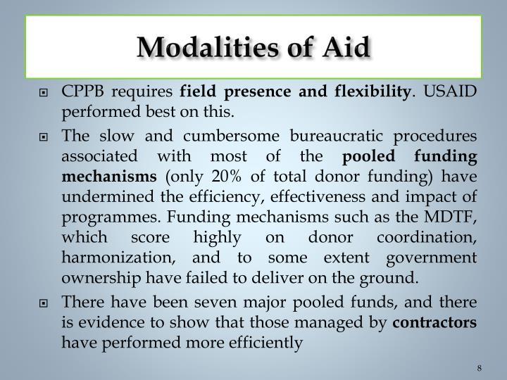 Modalities of Aid
