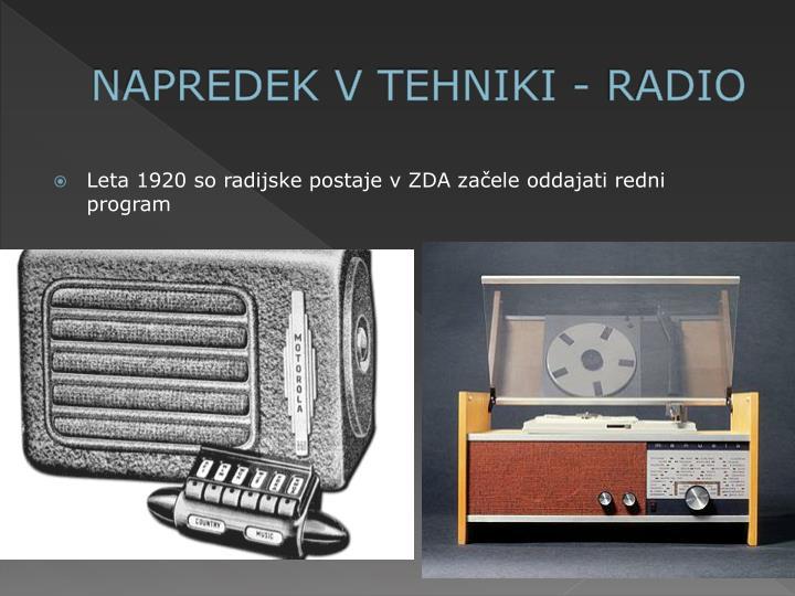 NAPREDEK V TEHNIKI - RADIO