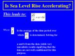 is sea level rise accelerating2
