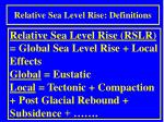 relative sea level rise definitions