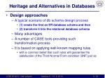 heritage and alternatives in databases2