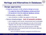 heritage and alternatives in databases3