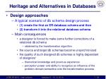 heritage and alternatives in databases4