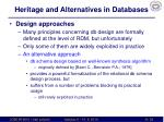 heritage and alternatives in databases5