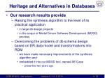 heritage and alternatives in databases6