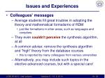 issues and experiences2
