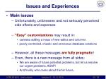 issues and experiences5
