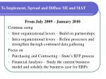 to implement spread and diffuse mi and mat