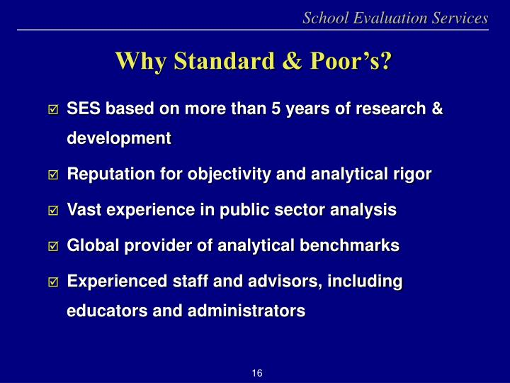 SES based on more than 5 years of research & development