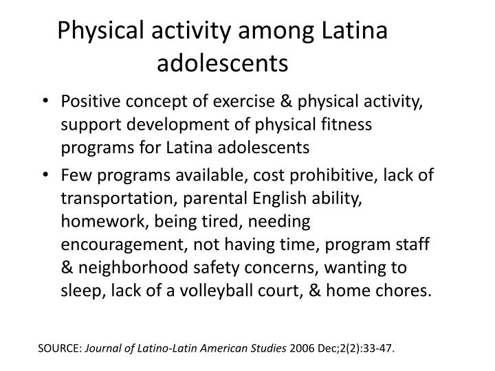 Physical activity among Latina adolescents
