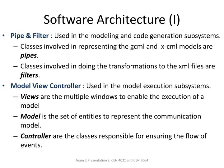 Software Architecture (I)