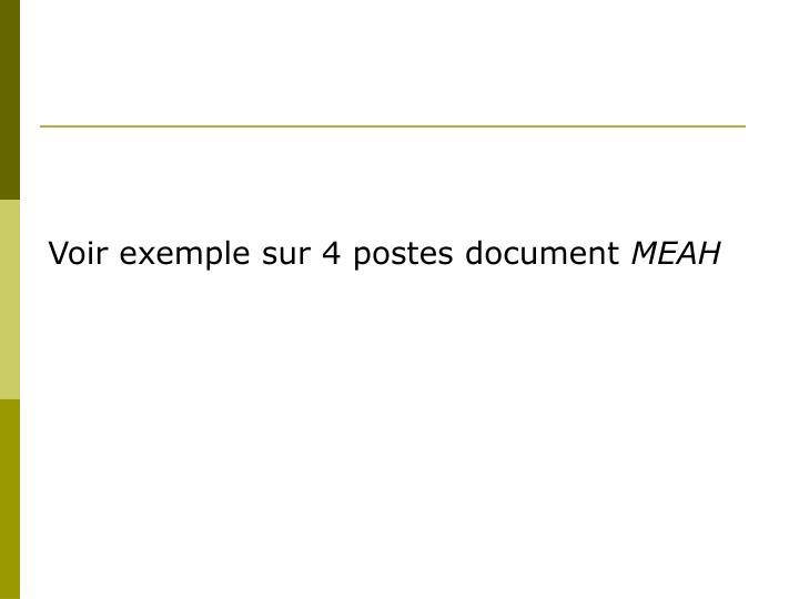 Voir exemple sur 4 postes document