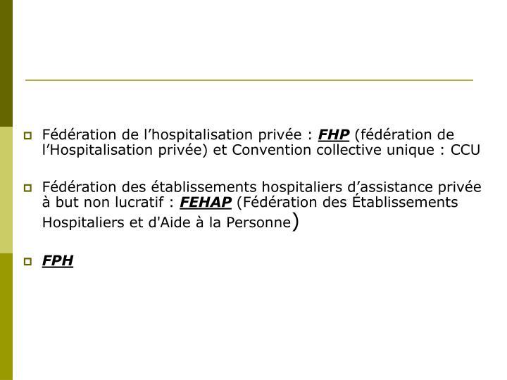 Fédération de l'hospitalisation privée :