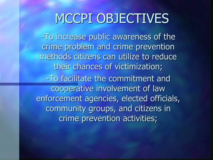 MCCPI OBJECTIVES