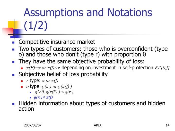 Assumptions and Notations (1/2)