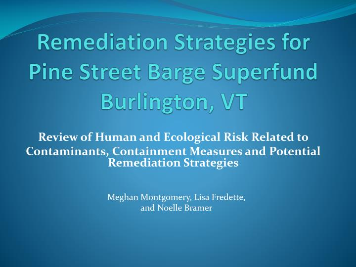 Remediation Strategies for