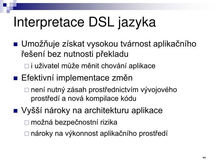 Interpretace DSL jazyka