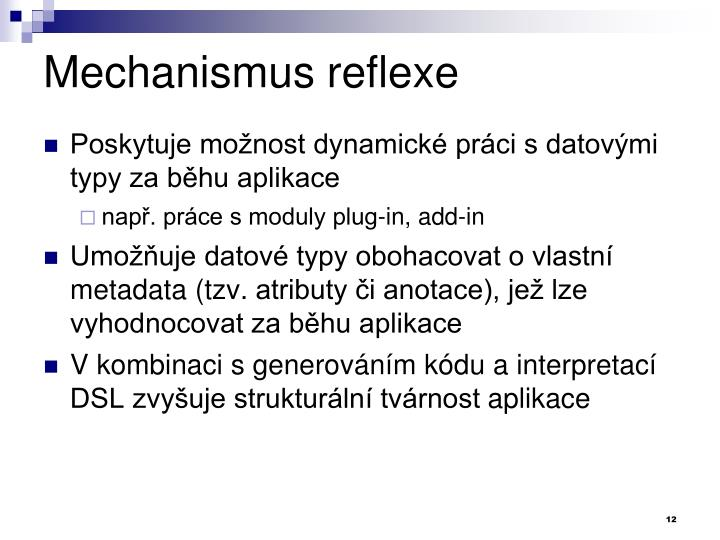 Mechanismus reflexe