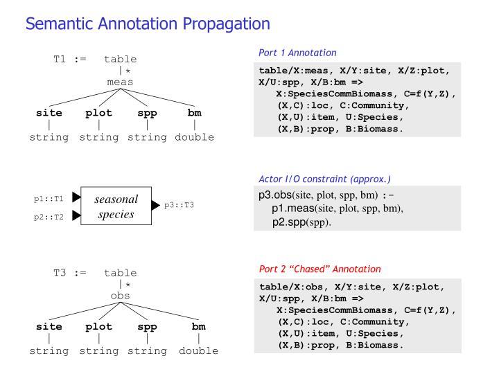 Semantic Annotation Propagation