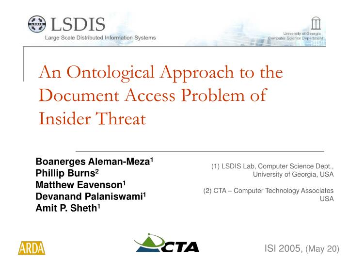 An ontological approach to the document access problem of insider threat