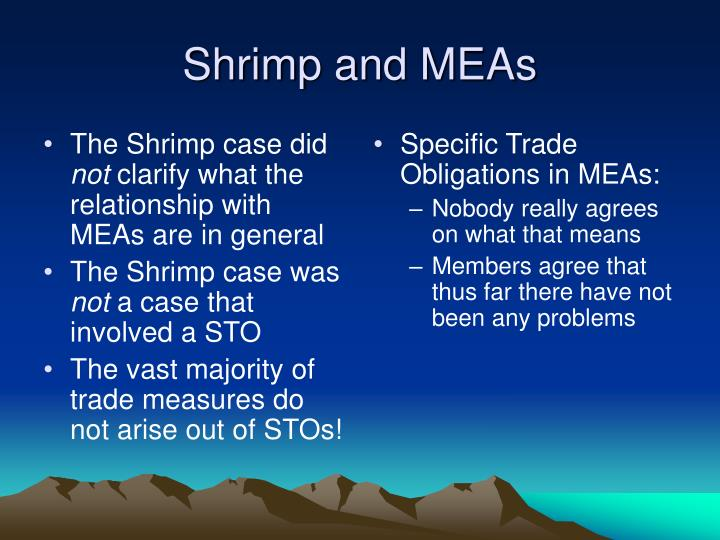 The Shrimp case did