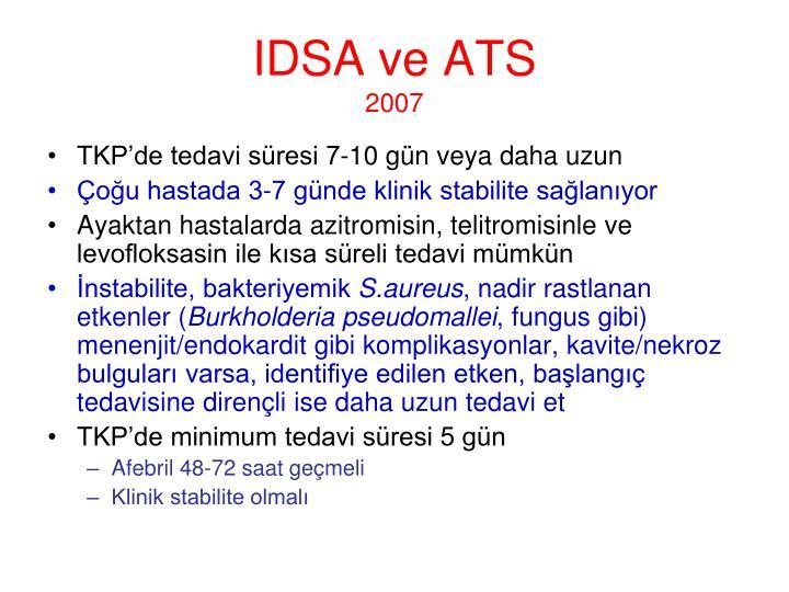 IDSA ve ATS