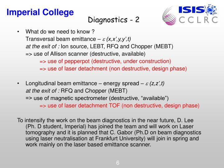 Diagnostics - 2