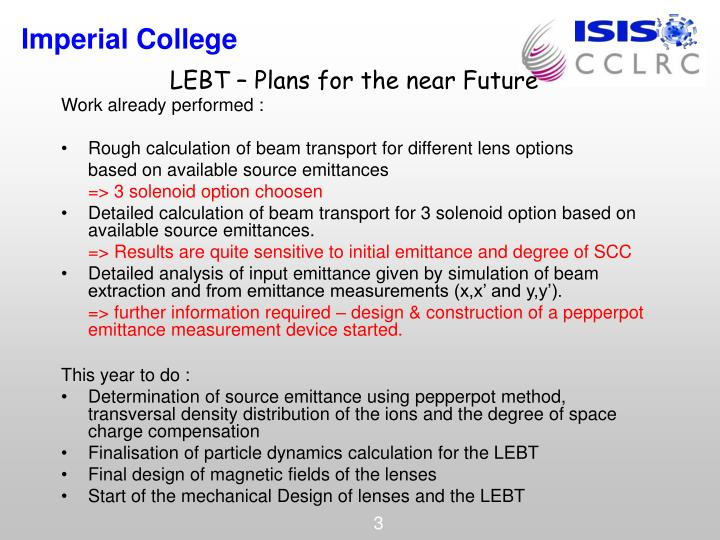 Lebt plans for the near future