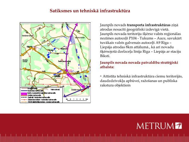 Satiksmes un tehniskā infrastruktūra