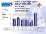 davis junior high school meap 2005 2009 9 th grade1