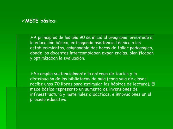 MECE básica: