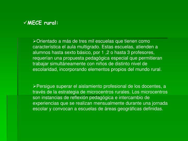 MECE rural: