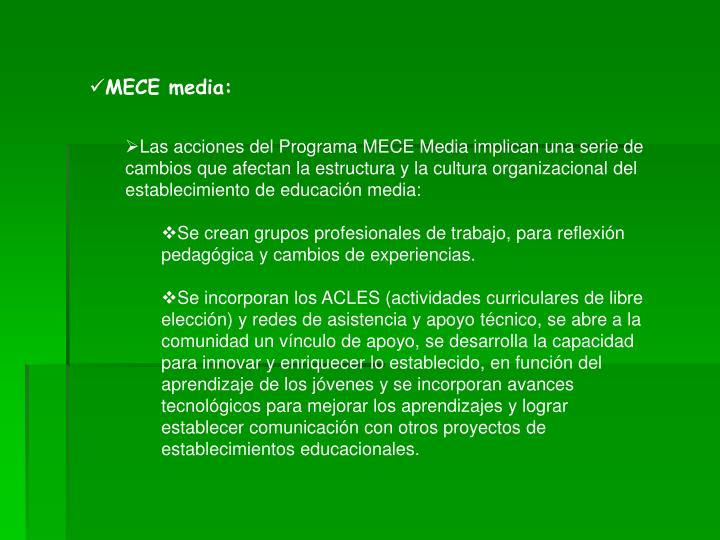 MECE media:
