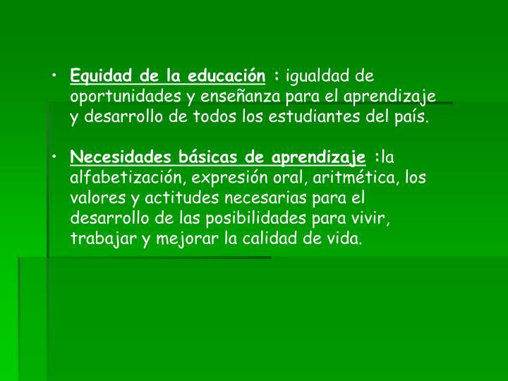 Equidad de la educación
