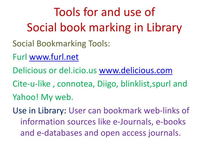 Tools for and use of