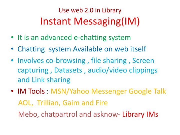 Use web 2.0 in Library