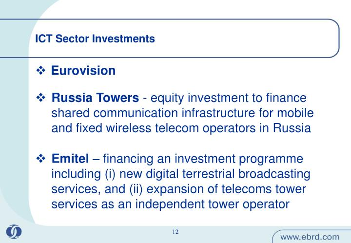 ICT Sector Investments