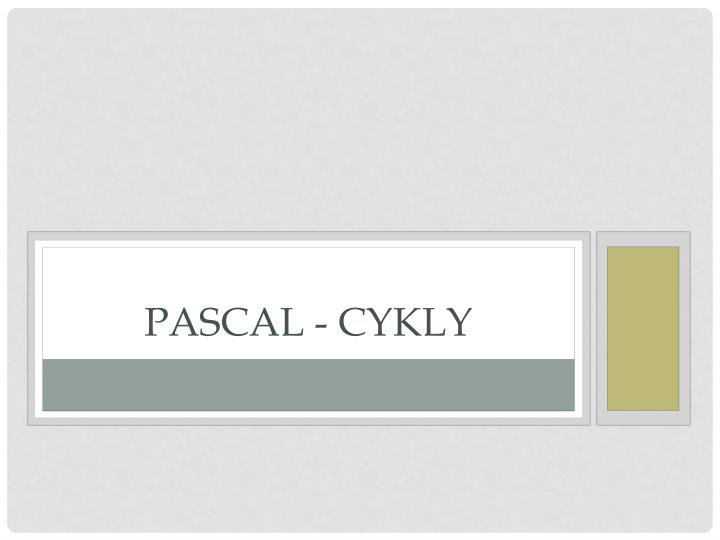 pascal cykly n.